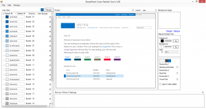 SharePoint 15 color palette tool