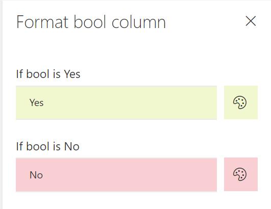 bool formatting