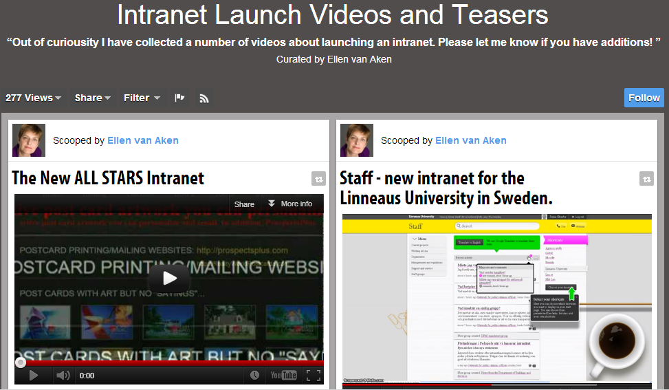 Intranet Launch video's and teasers