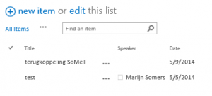 presentations list